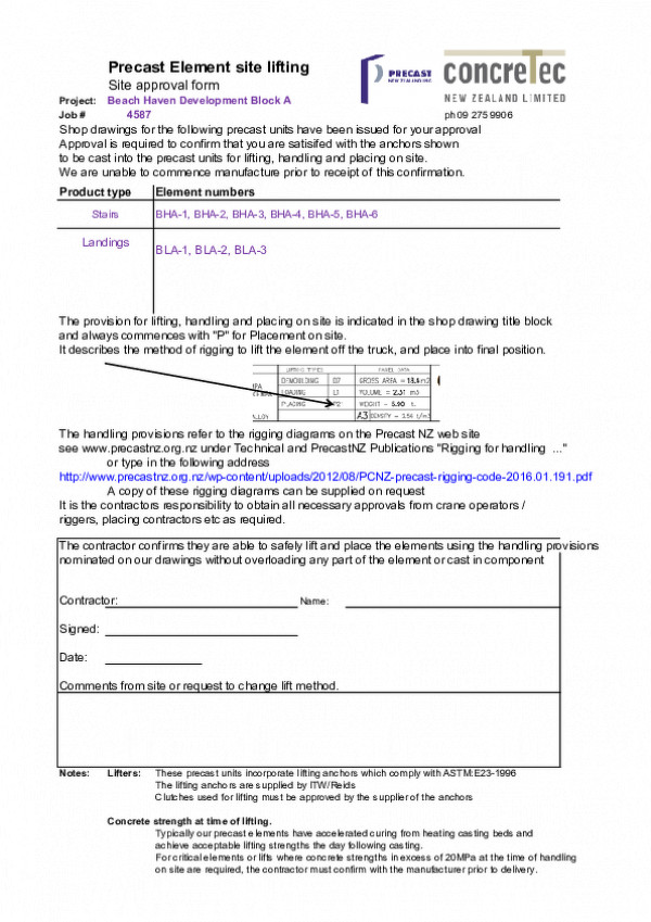 00  Site Approval Form For Lifters In Precast   Nz Precast Association Std Form